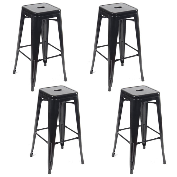Tolix Metal Vintage Stool Industrial Kitchen Breakfast Bar Stools Sgabello Black