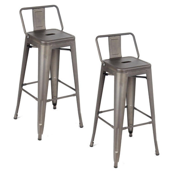 Tolix Metal Vintage Stool Kitchen Breakfast Bar Stools Sgabello Due Gun Metal