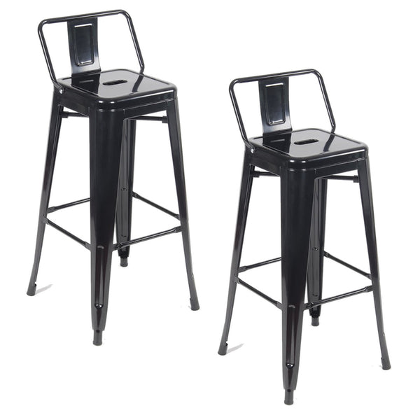 Tolix Metal Vintage Stool Kitchen Breakfast Bar Stools Sgabello Due Black