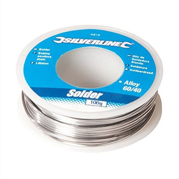 Fluxed Solder Wire Soldering Electrician Plumbing Hobby 20g - 100g Silverline