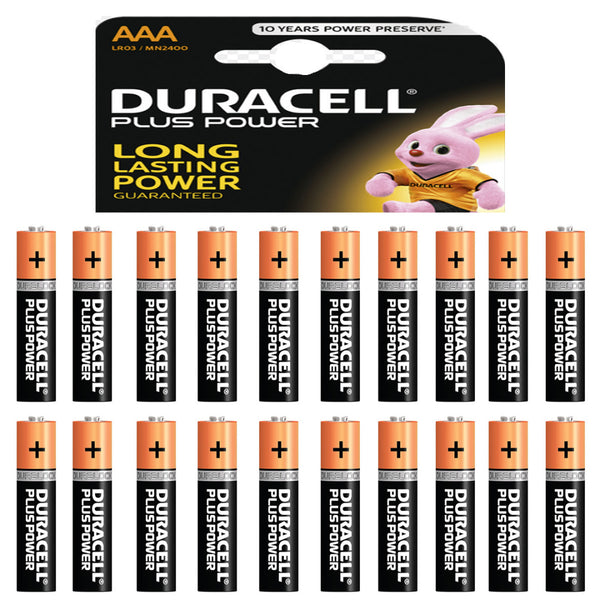 Duracell Power Plus AAA Alkaline Batteries LR03 MN2400 1.5V Battery 20 Pack