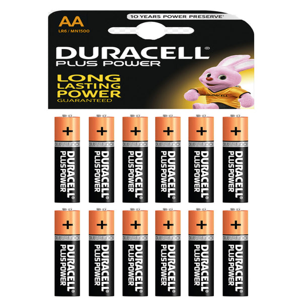 Duracell Power Plus AA Alkaline Batteries LR6 MN1500 1.5V Battery 12 Pack