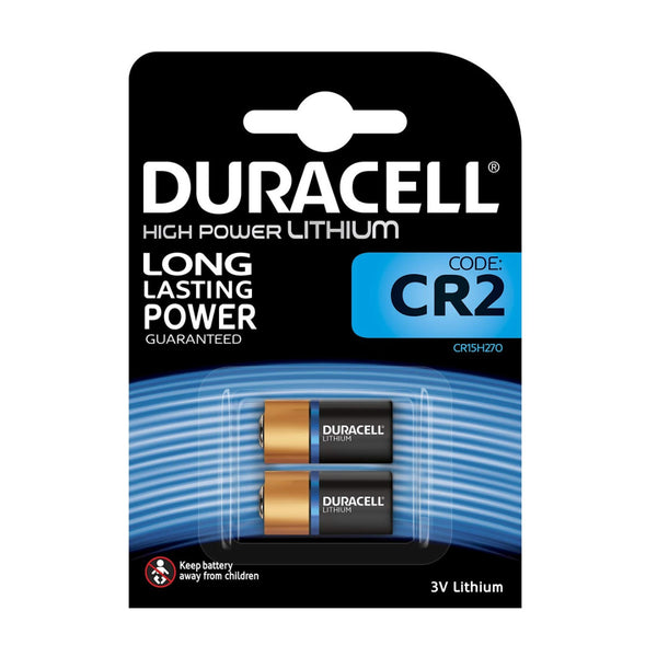 Duracell CR2 Ultra Lithium Photo Batteries DLCR2 ELCR2 CR15H270 3V Battery 2 Pack