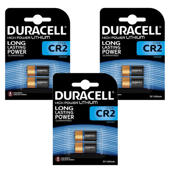 Duracell CR2 Ultra Lithium Photo Batteries DLCR2 ELCR2 CR15H270 3V Battery 6 Pack
