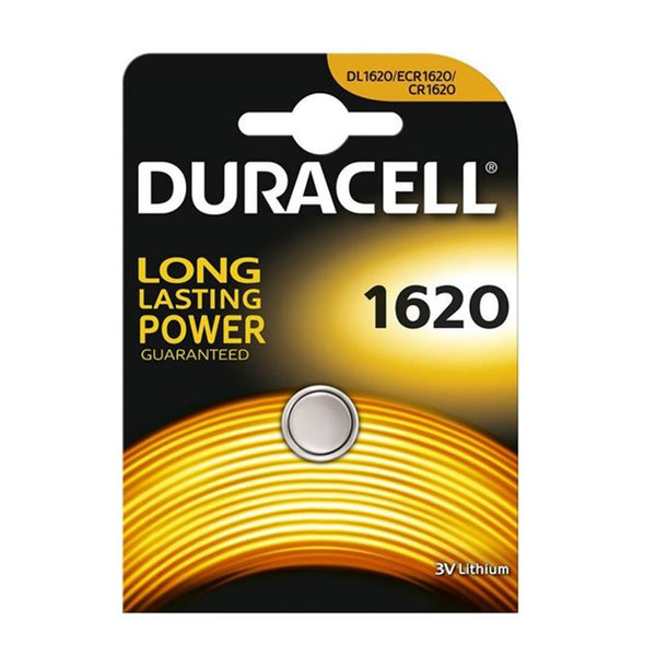 Duracell CR1620 Lithium Coin Cell Batteries 1620 DL1620 3V Battery Single Pack