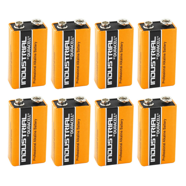 Duracell 9V Industrial Batteries Alkaline LR22 MN1604 Procell Battery 8 Pack