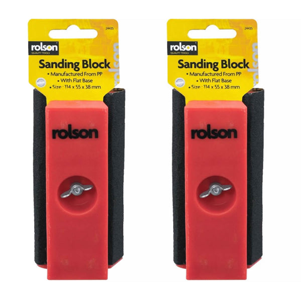2 Pack Mini Sanding Block Wood Work Equipment Sandpaper Sander Carpenter Rolson 24435