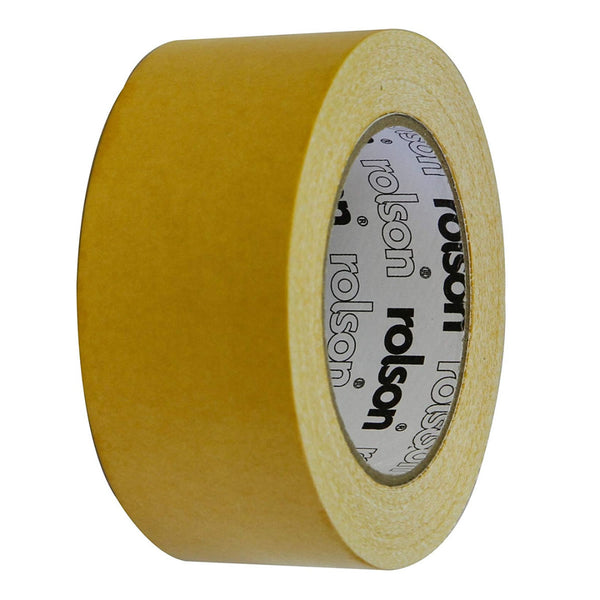 Double Sided Carpet Tape Multi-Purpose Adhesive Heavy Duty 50mmx25m Rolson 60381