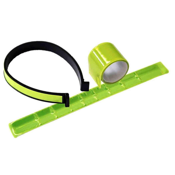Bicycle 2Pc Reflective Hi-Viz Arm Band Trouser Clips Bike Cycling Rolson 43117