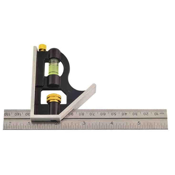 Rolson 150mm (6inch) Adjustable Sliding Metal Combination Square Set R50850