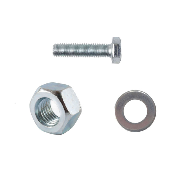 M8 x 50mm Set Screws Full Thread Bolts With Nuts And Washers High Tensile Zinc Plated