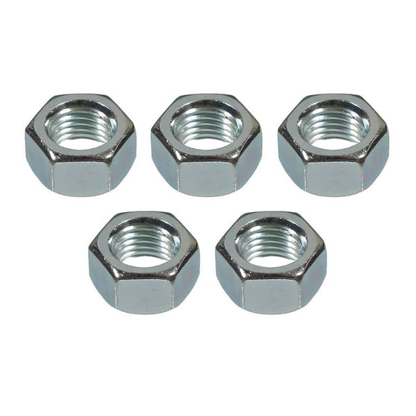M8 Hex Full Nuts Bright Zinc Plated Standard Metric Threads Hexagon Nut