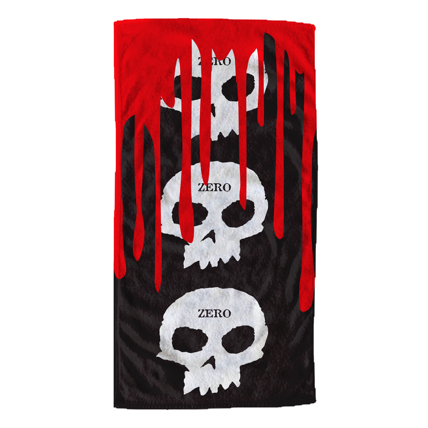 3 Skull Blood Towel
