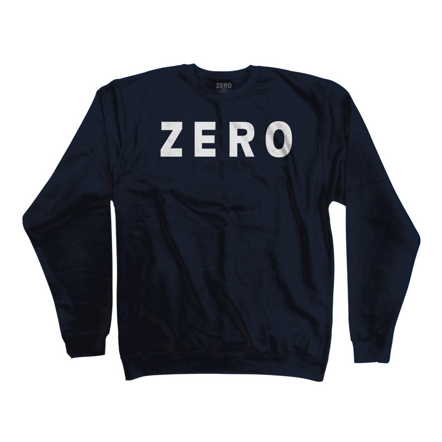 Zero Army navy blue crewneck
