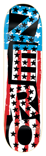 Zero American punk red white and blue deck