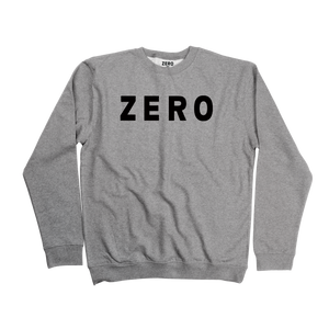 Zero Army gray and black crewneck