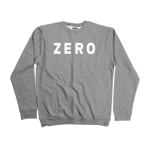 Zero Army gray and white crewneck