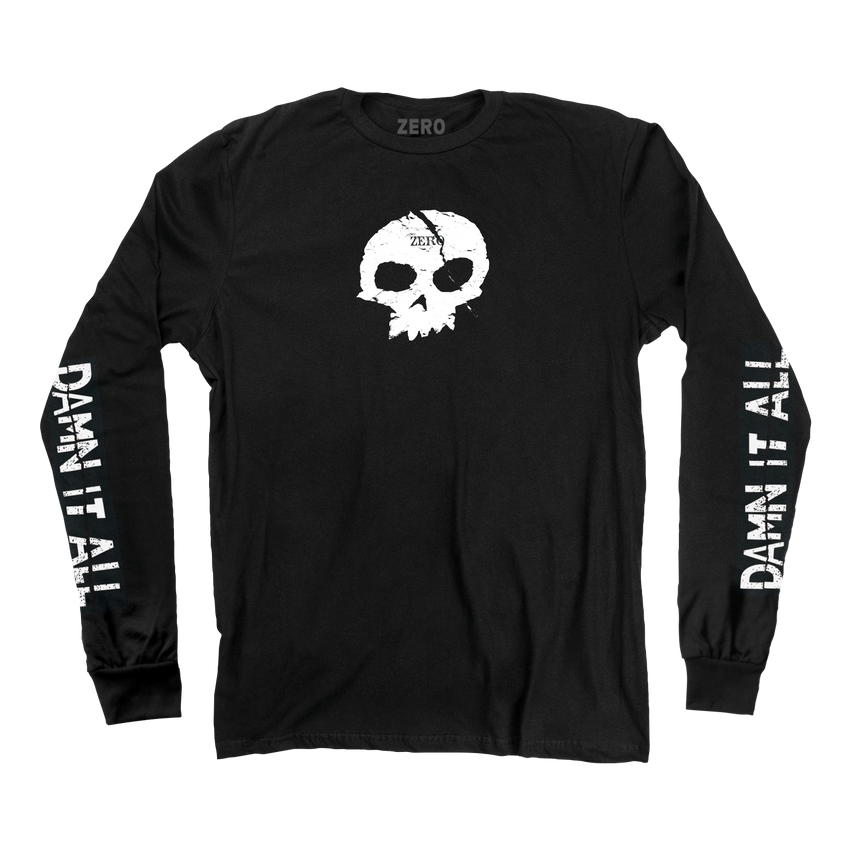 DAMN IT ALL SKULL L/S - BLACK