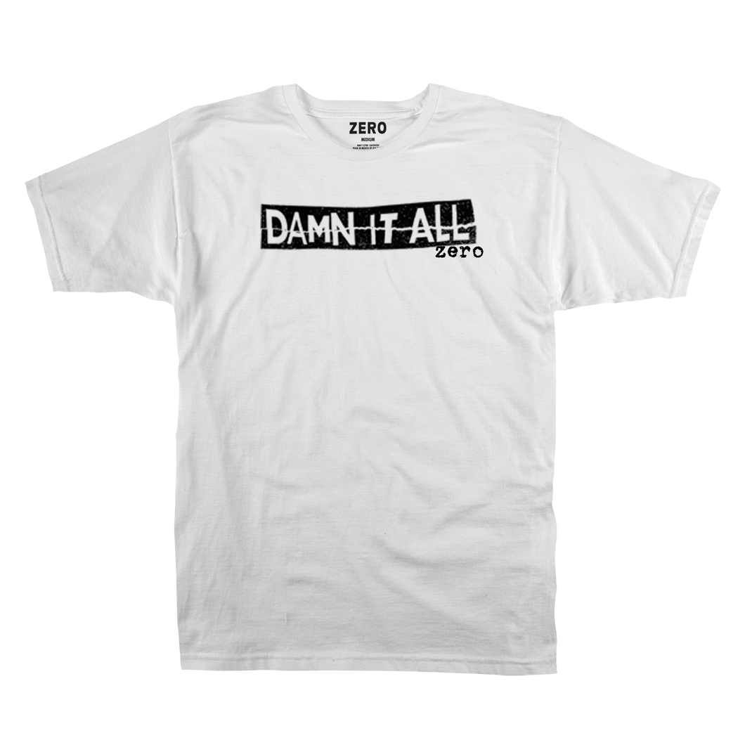 DAMN IT ALL TEXT S/S - WHITE