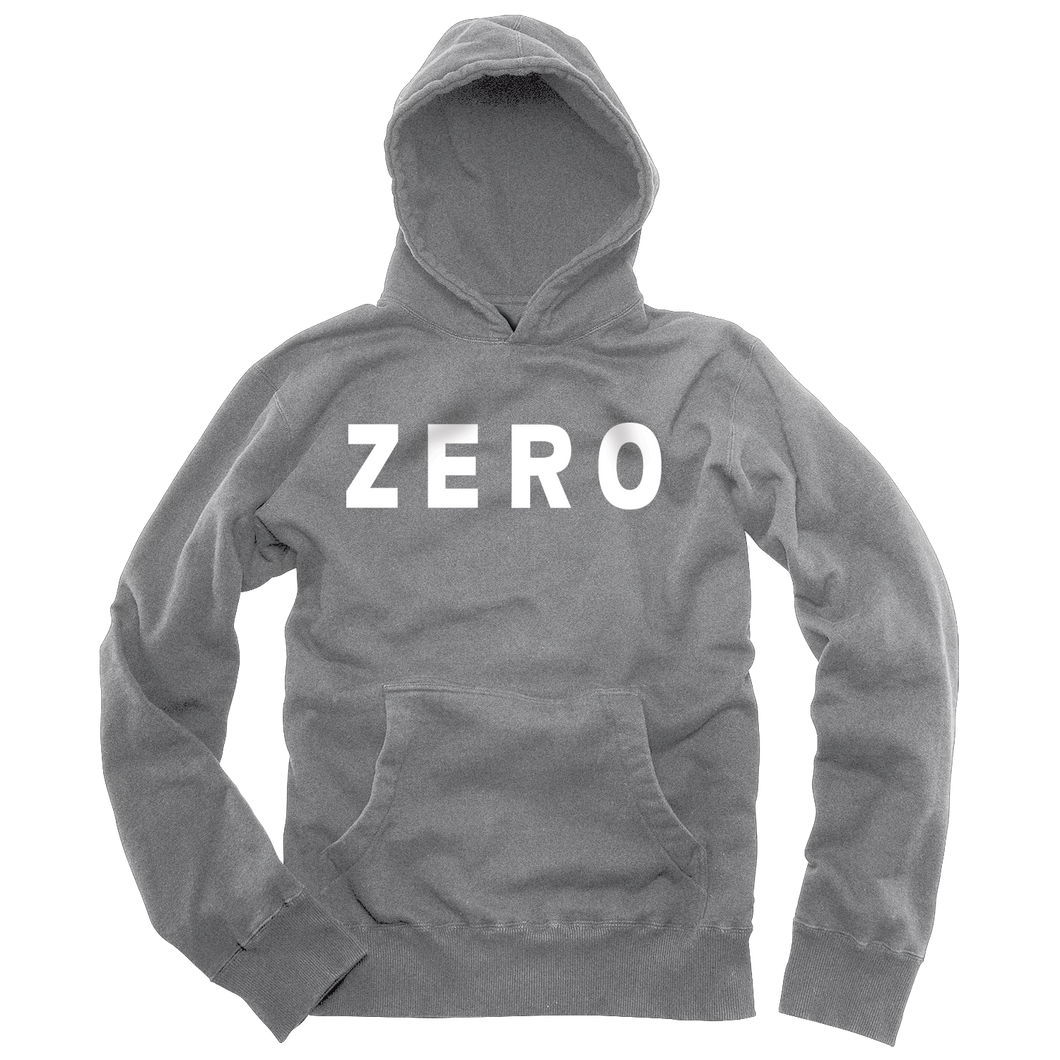 Zero Army gray and white fleece pullover