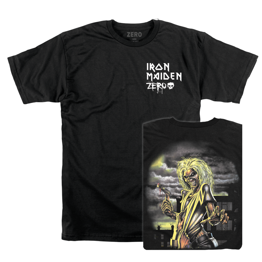 Zero Iron Maiden black tee