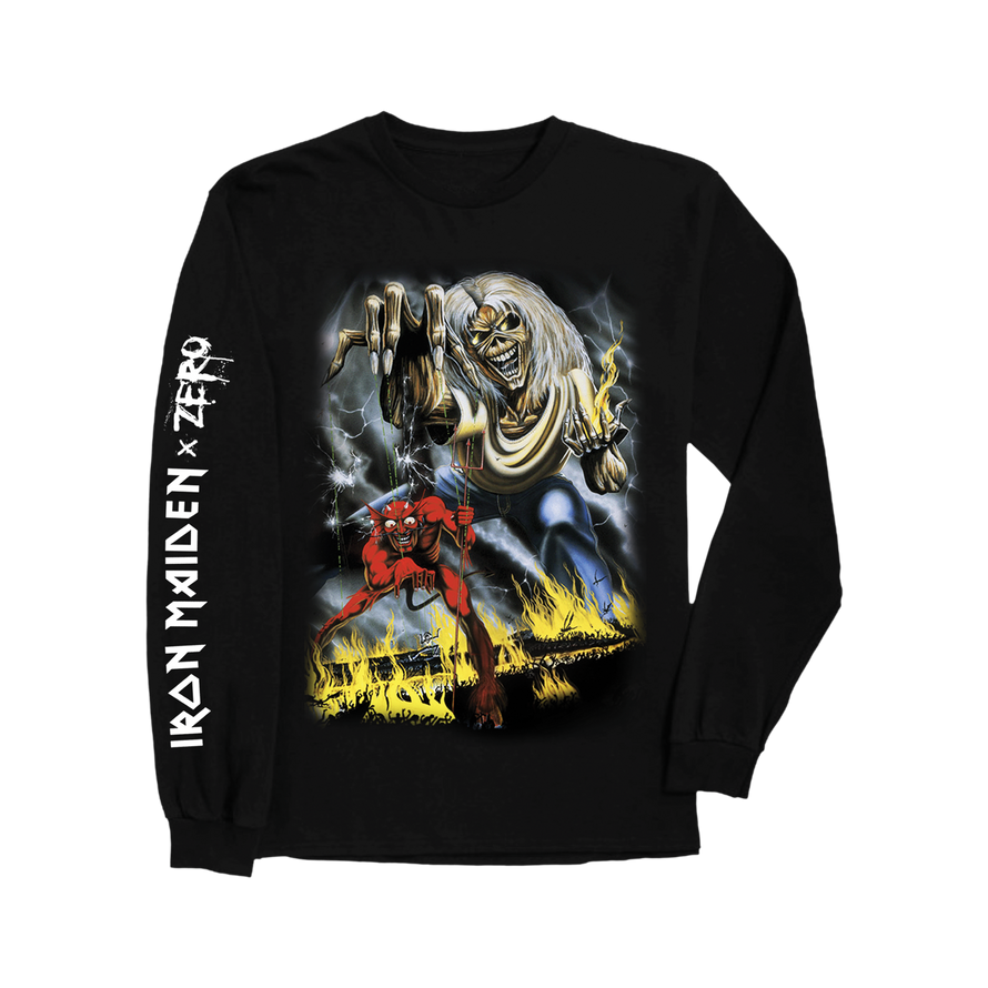 Zero x Iron Maiden long sleeve tee