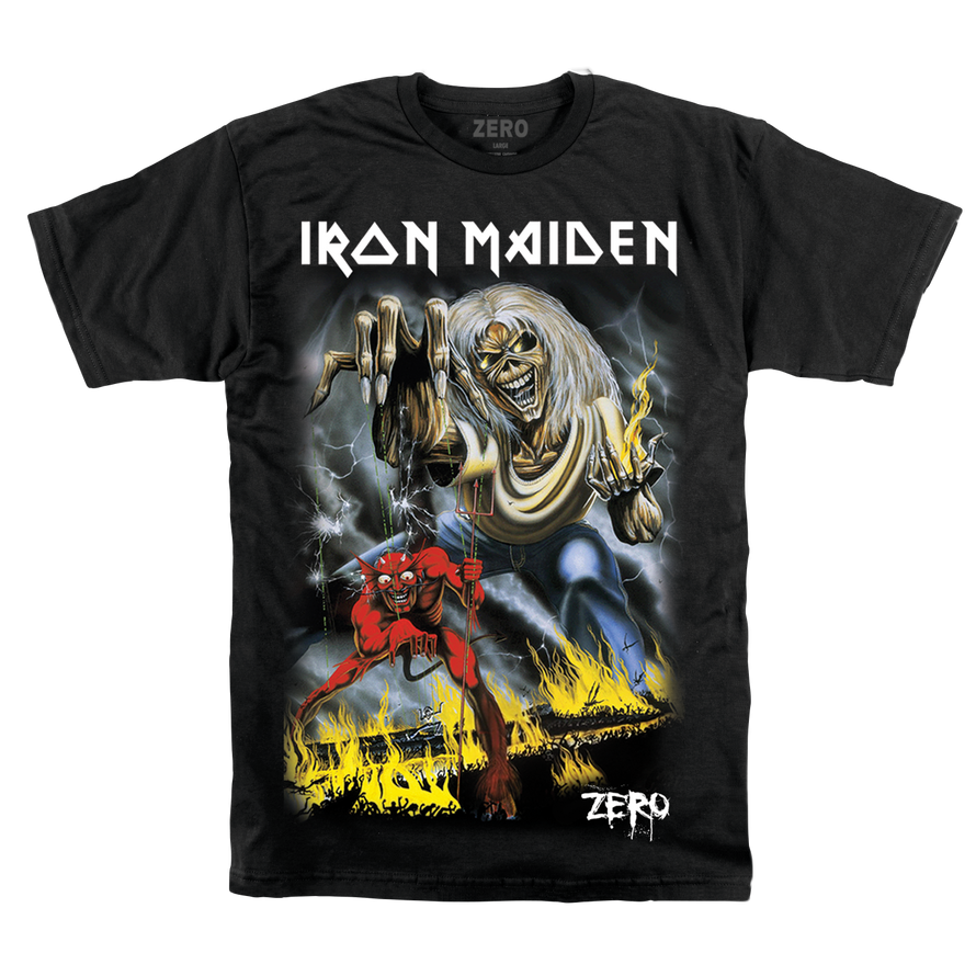 Zero x Iron Maiden number of the beast tee
