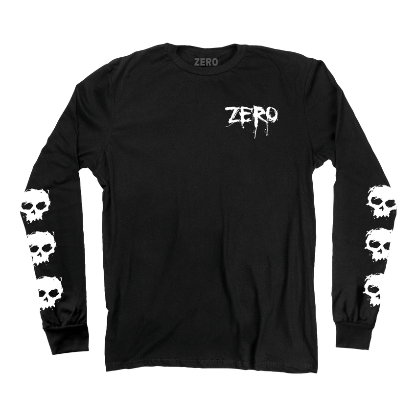 Zero skulls long sleeve tee