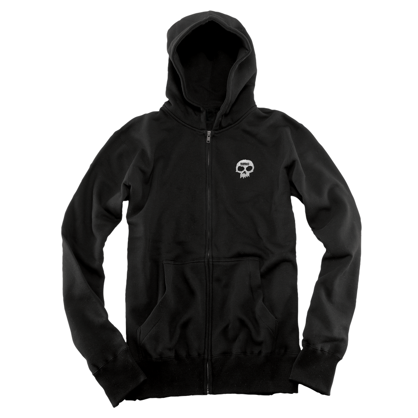 EMBROIDERED ZIP UP - BLACK [SMALL ONLY]