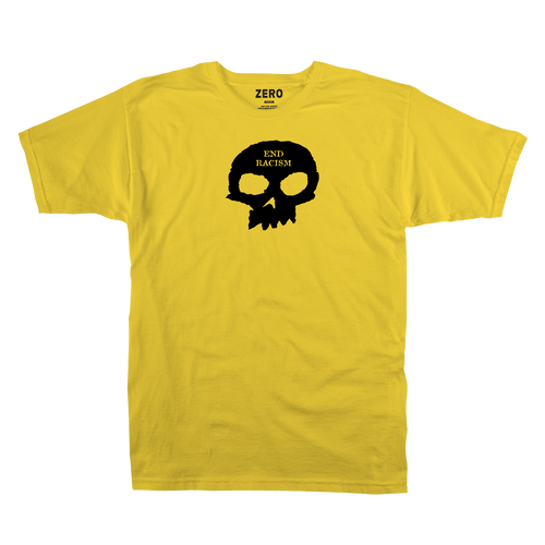 End Racism Skull S/S - Yellow