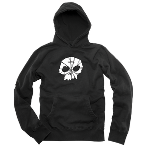 SHATTERED SINGLE SKULL PULLOVER - BLACK