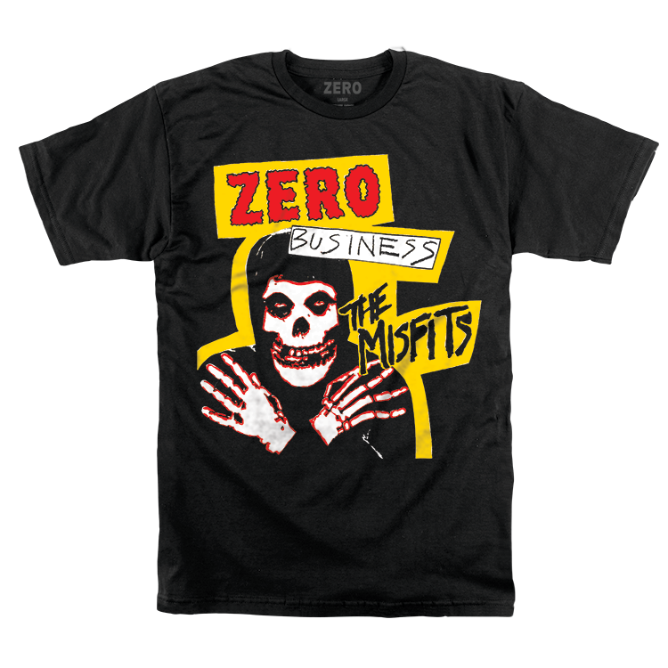 MISFITS ZERO BUSINESS S/S - BLACK [XL ONLY]