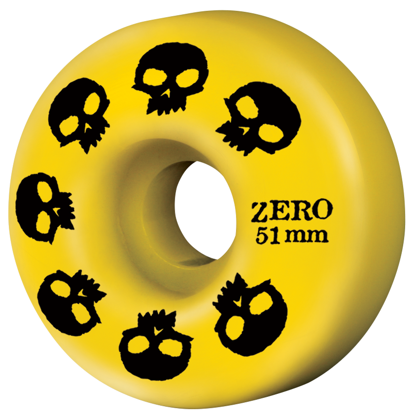 Multi-Skull Wheel - Yellow (51mm & 53mm)