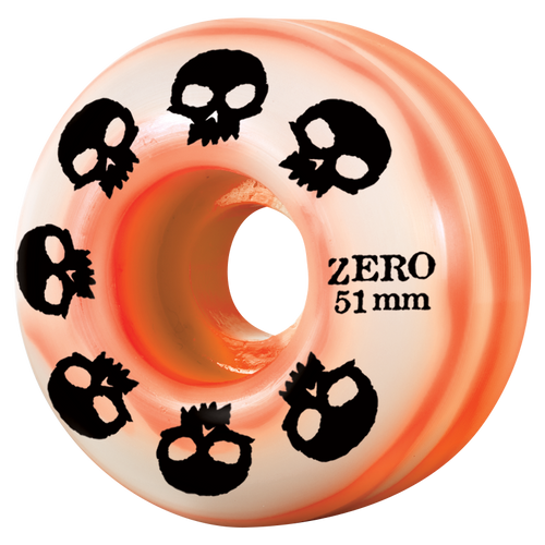Multi-Skull Wheel - Orange/Natural Swirl 51mm