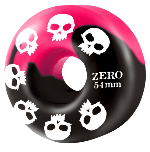 Multi-Skull Wheel - Pink/Black Swirl 54mm