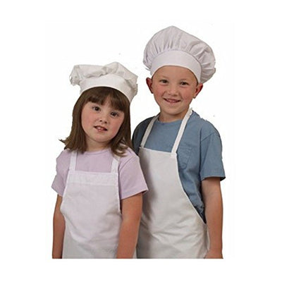 Kids Chef Hat and Apron Set Children's Kitchen Cooking Baking Wear Kit Kids Size Free eBook