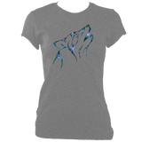 Tribal Wolf Head Women's fitted t-shirt