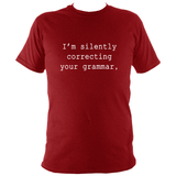 Silently correcting your grammar T-shirt