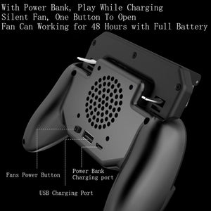 Pubg Gamepad - Built-in Cooling fan with Power Bank