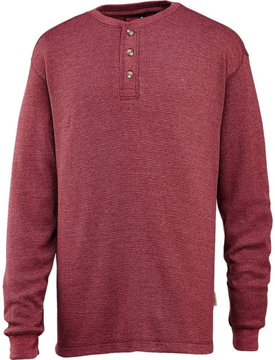 Men's Walden Long Sleeve Blended Thermal 3 Button Henley Shirt