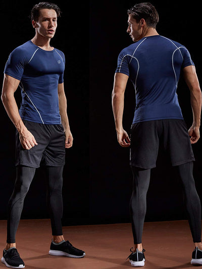 Men's Compression Baselayer Athletic Workout T Shirts