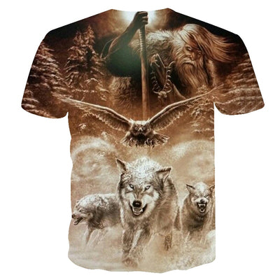 2018 men t shirt 3D Wolf tshirt Funny t shirt Men Women t shirt Autumn Summer