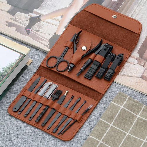 16pcs Stainless Steel Nail Clippers Kit