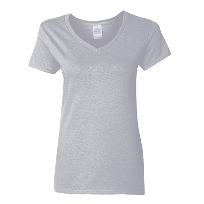 Customizable Gildan Ladies V-Neck Short Sleeve T-Shirt