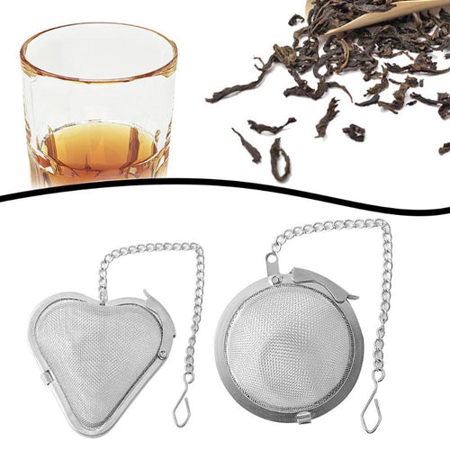 Stainless Steel Tea Strainer Locking Spice Mesh