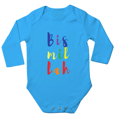 Bismillah Long Sleeve Baby Bodysuit