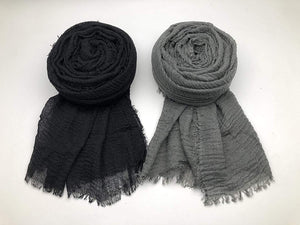 3PCS Women Soft Cotton Hemp Scarf Shawl Long Scarf and Wrap Big Head Scarf - Nice Deal 4u