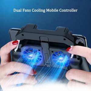 PUBG mobile controller with double fan and power bank