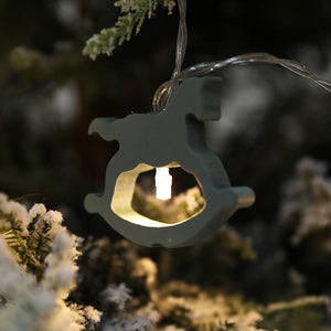 Wooden Light Christmas Decorations