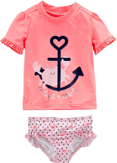 Baby Girls' 2-Piece Rashguard Set